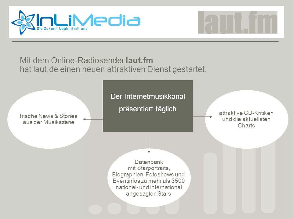 Laut.fm Mit dem Online-Radiosender laut.fm