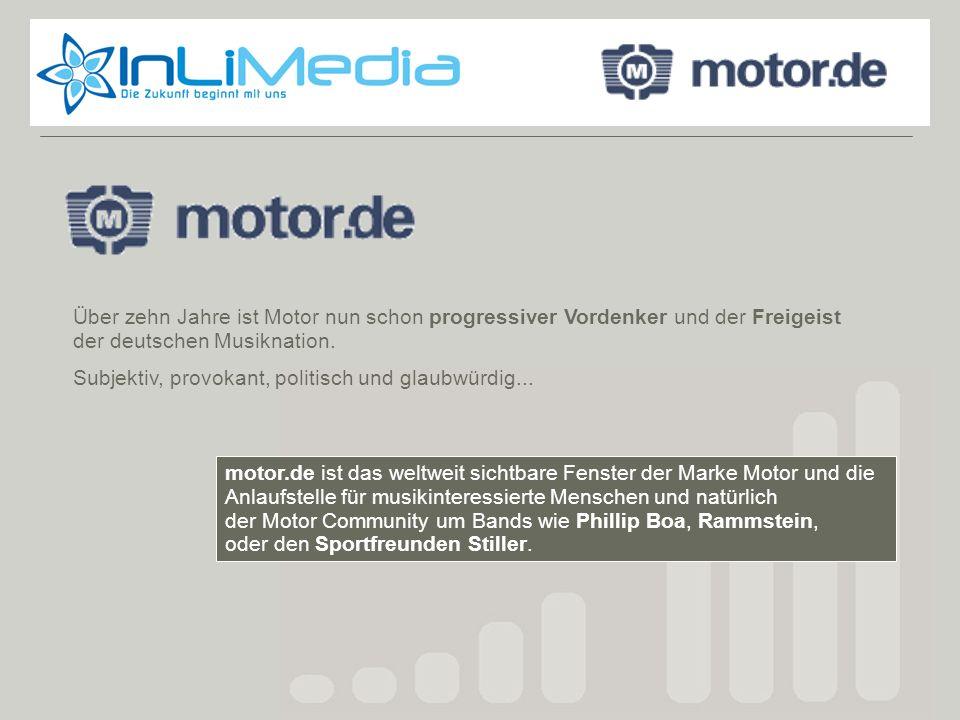 Motor.de Über zehn Jahre ist Motor nun schon progressiver Vordenker und der Freigeist der deutschen Musiknation.