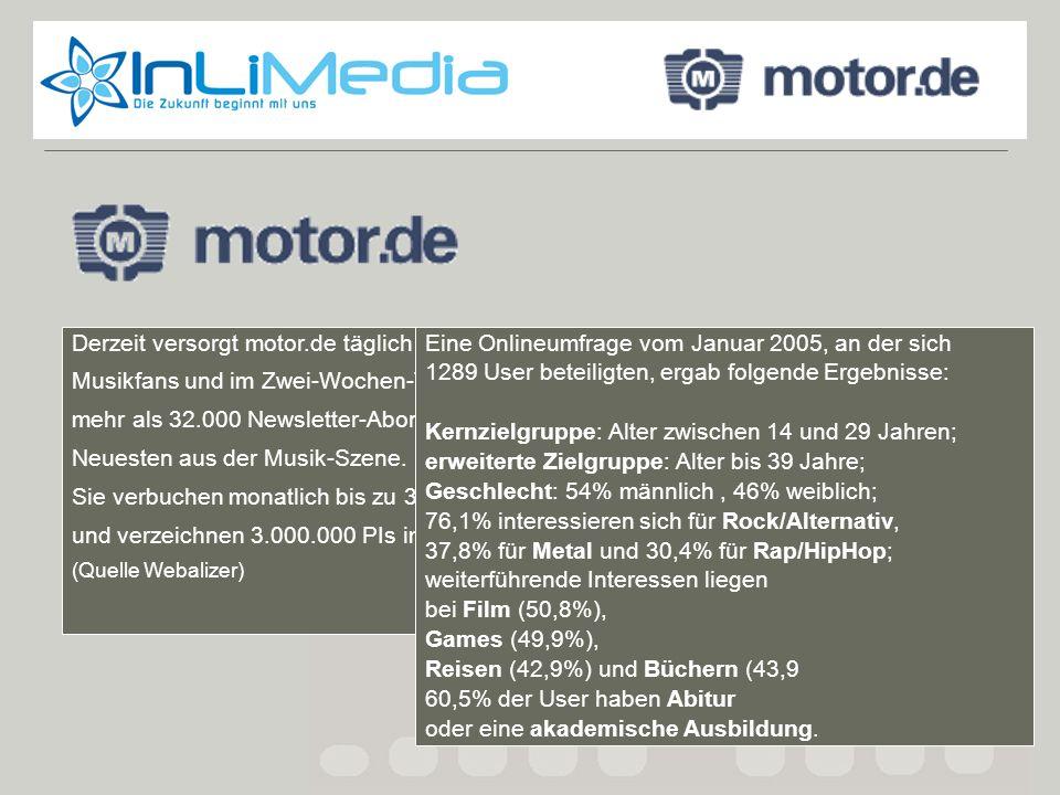 Motor.de fakts Derzeit versorgt motor.de täglich bis zu 15.000