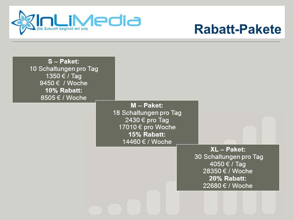 Rabatt-Pakete Rabatt-Pakete S – Paket: 10 Schaltungen pro Tag