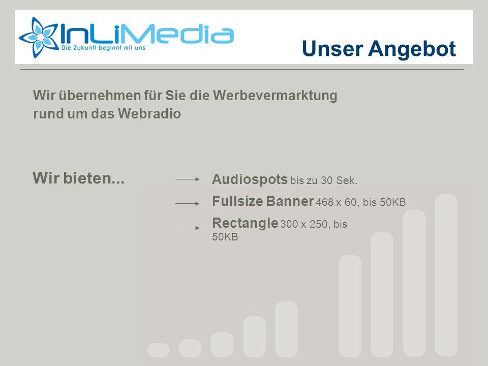 Wir übernehmen für Sie die Werbevermarktung rund um das Webradio