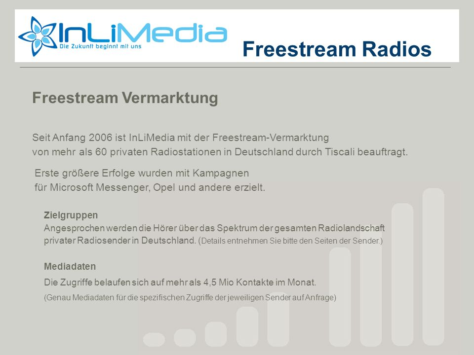 Freestream Radios Freestream Radios Freestream Vermarktung