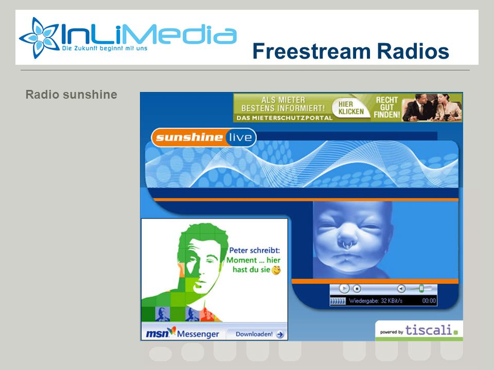 Freestream Radios Radio sunshine Screenshot 1