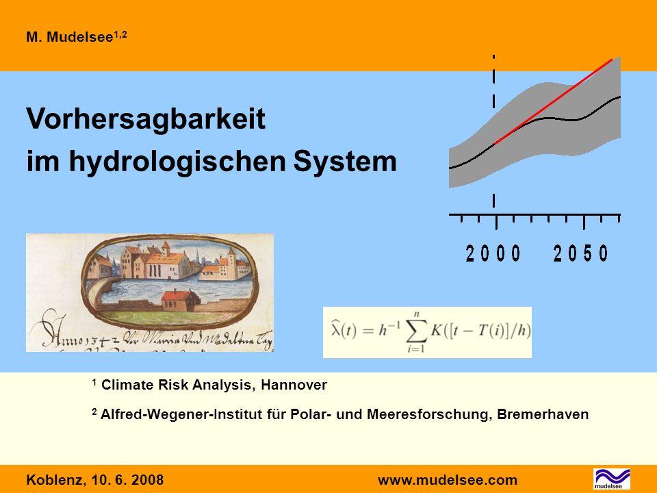 Vorhersagbarkeit im hydrologischen System