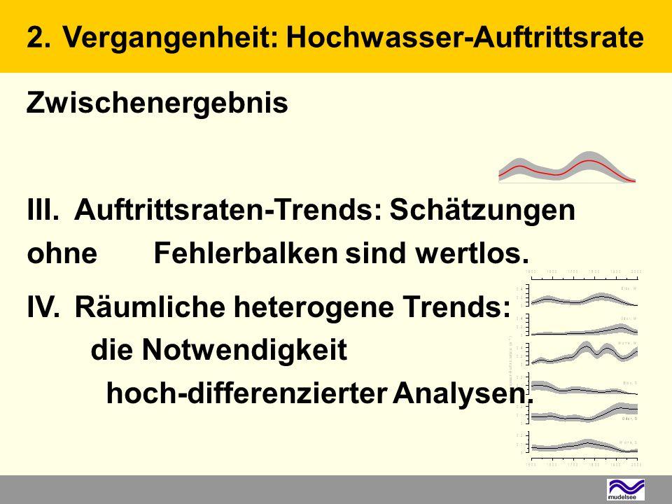 Zwischenergebnis III. Auftrittsraten-Trends: Schätzungen ohne Fehlerbalken sind wertlos.