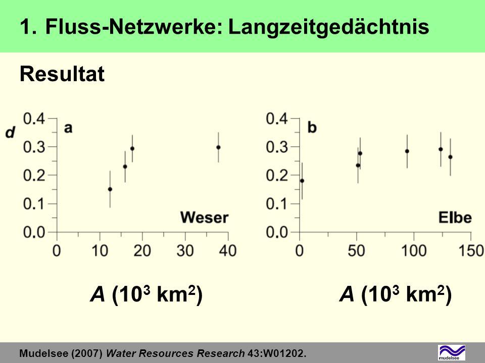 1. Fluss-Netzwerke: Langzeitgedächtnis Resultat
