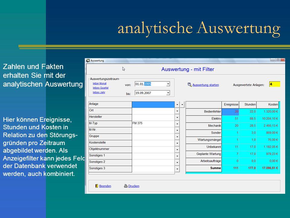 analytische Auswertung