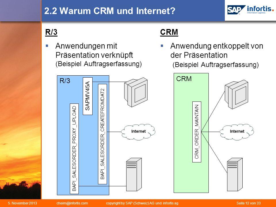 2.2 Warum CRM und Internet R/3