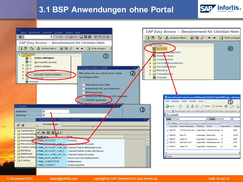 3.1 BSP Anwendungen ohne Portal