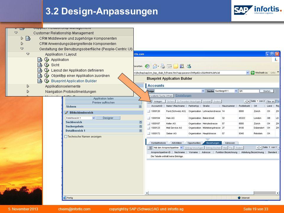 3.2 Design-Anpassungen