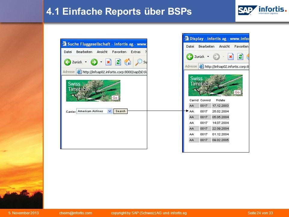 4.1 Einfache Reports über BSPs