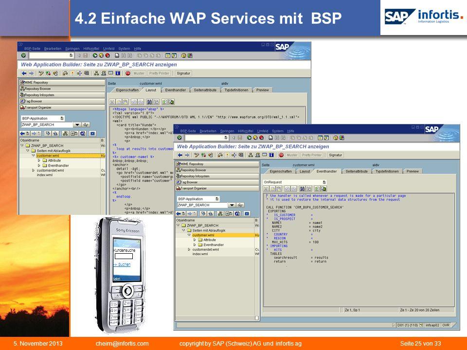 4.2 Einfache WAP Services mit BSP