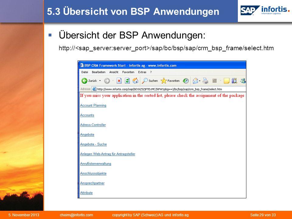 5.3 Übersicht von BSP Anwendungen