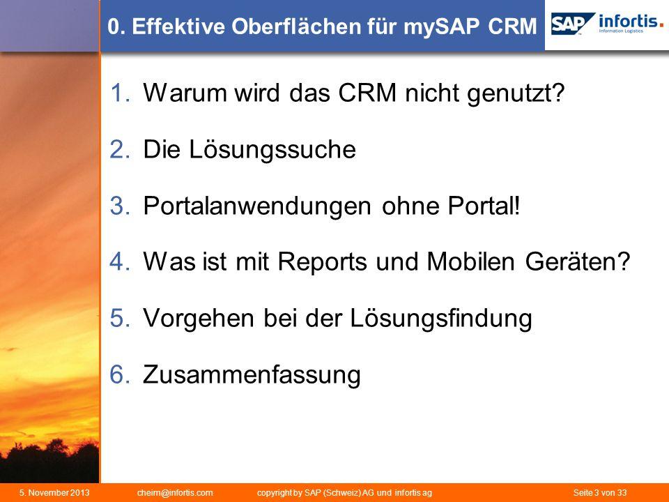 0. Effektive Oberflächen für mySAP CRM