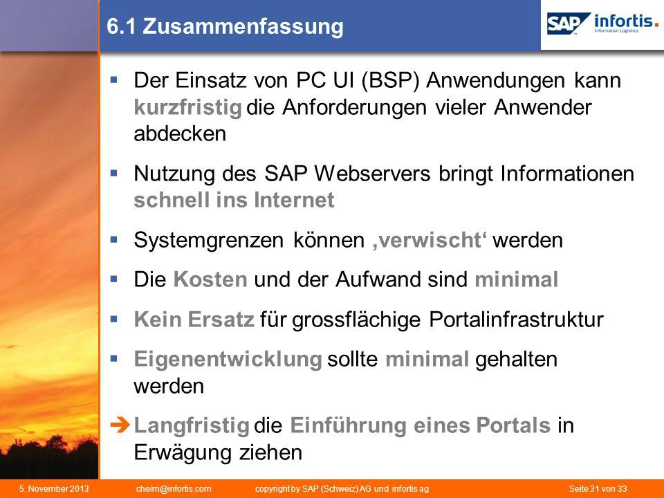 Nutzung des SAP Webservers bringt Informationen schnell ins Internet