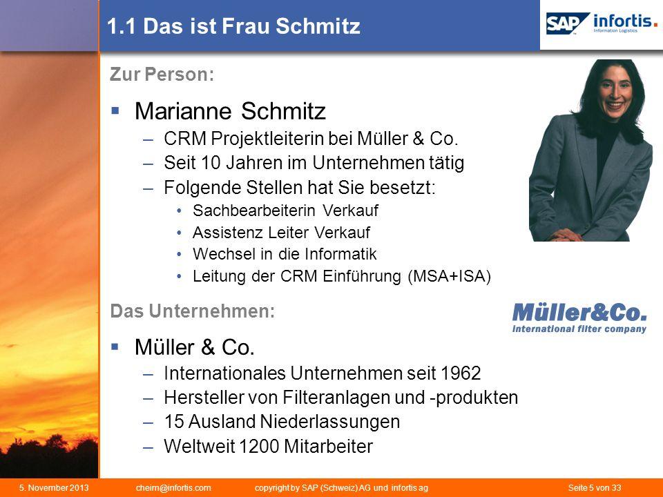 Marianne Schmitz 1.1 Das ist Frau Schmitz Müller & Co. Zur Person: