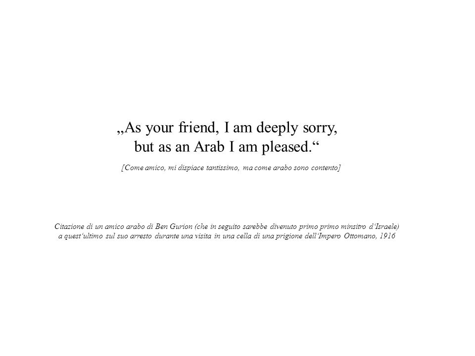 """As your friend, I am deeply sorry, but as an Arab I am pleased."