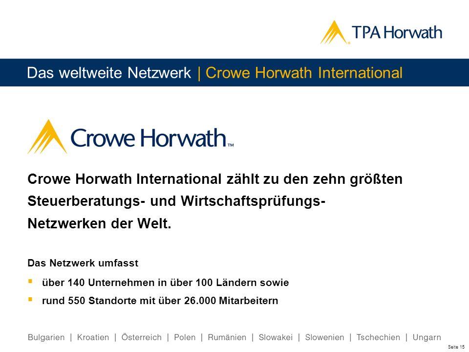 Das weltweite Netzwerk | Crowe Horwath International