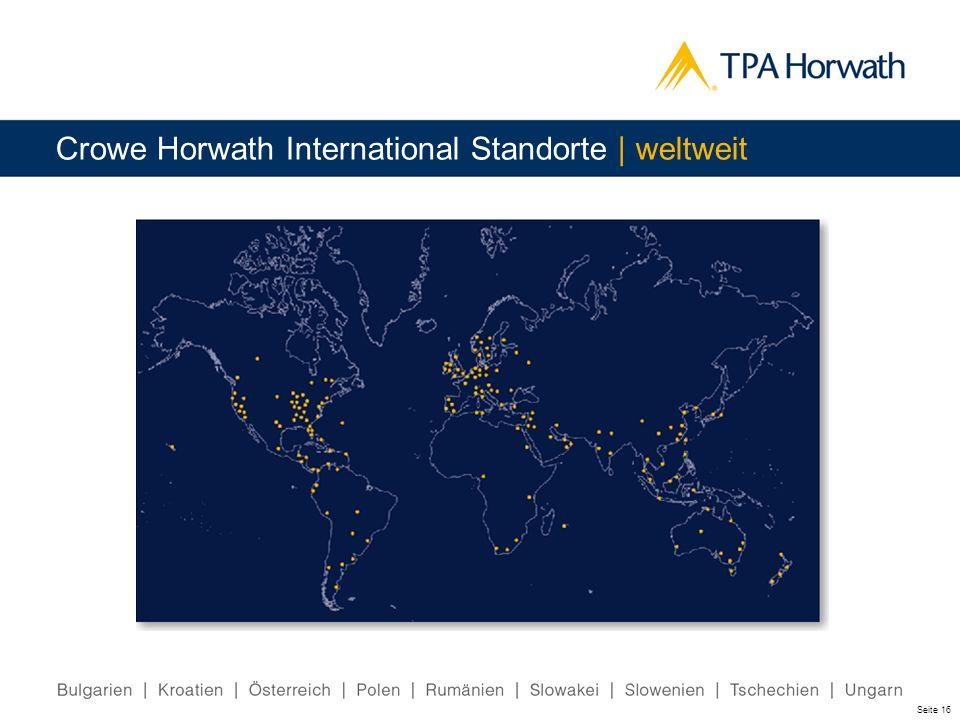 Crowe Horwath International Standorte | weltweit