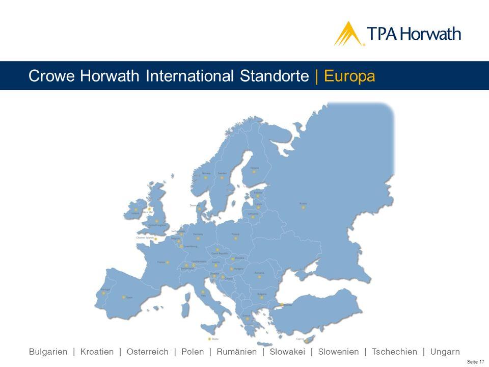 Crowe Horwath International Standorte | Europa