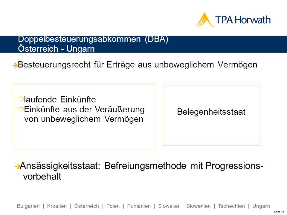 Doppelbesteuerungsabkommen (DBA) Österreich - Ungarn