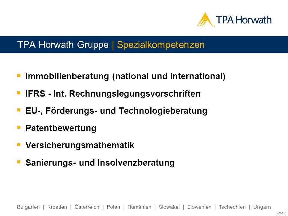 TPA Horwath Gruppe | Spezialkompetenzen