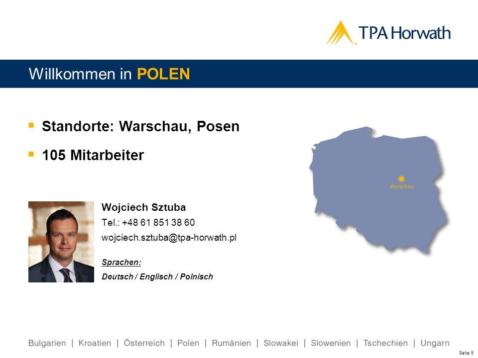 Willkommen in POLEN Standorte: Warschau, Posen 105 Mitarbeiter