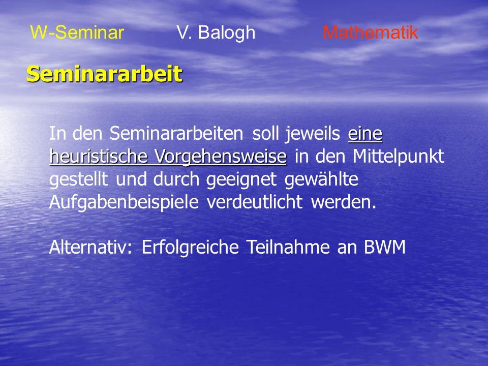 Seminararbeit W-Seminar V. Balogh Mathematik
