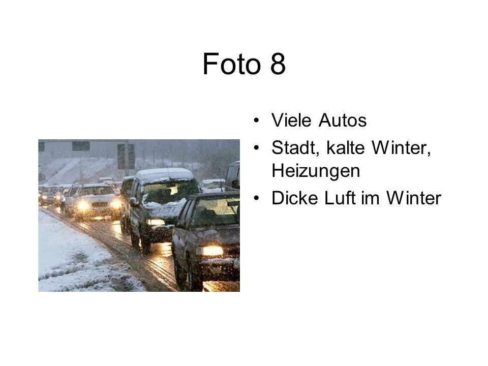 Foto 8 Viele Autos Stadt, kalte Winter, Heizungen Dicke Luft im Winter