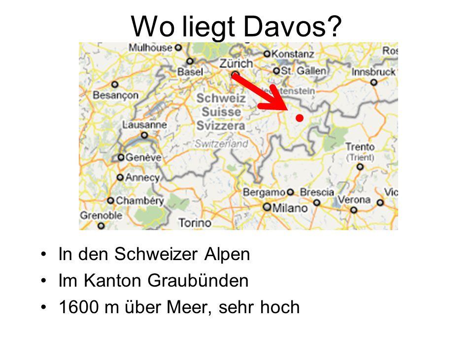 Wo liegt Davos In den Schweizer Alpen Im Kanton Graubünden