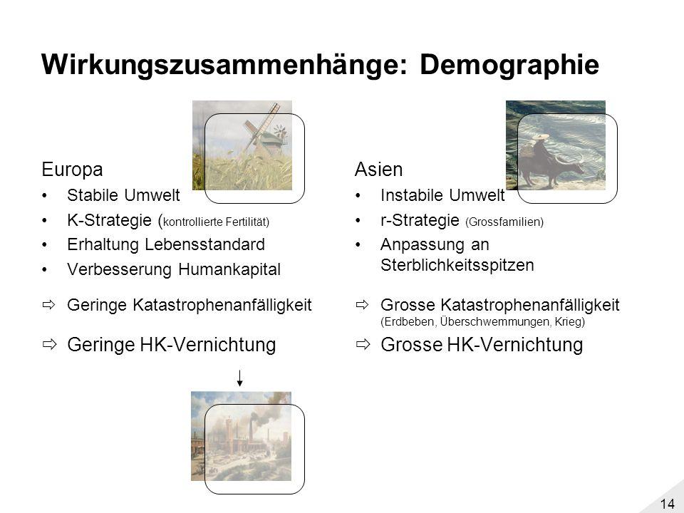 Wirkungszusammenhänge: Demographie