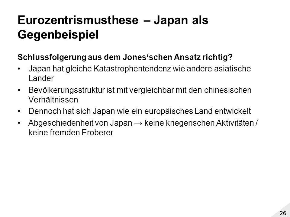 Eurozentrismusthese – Japan als Gegenbeispiel