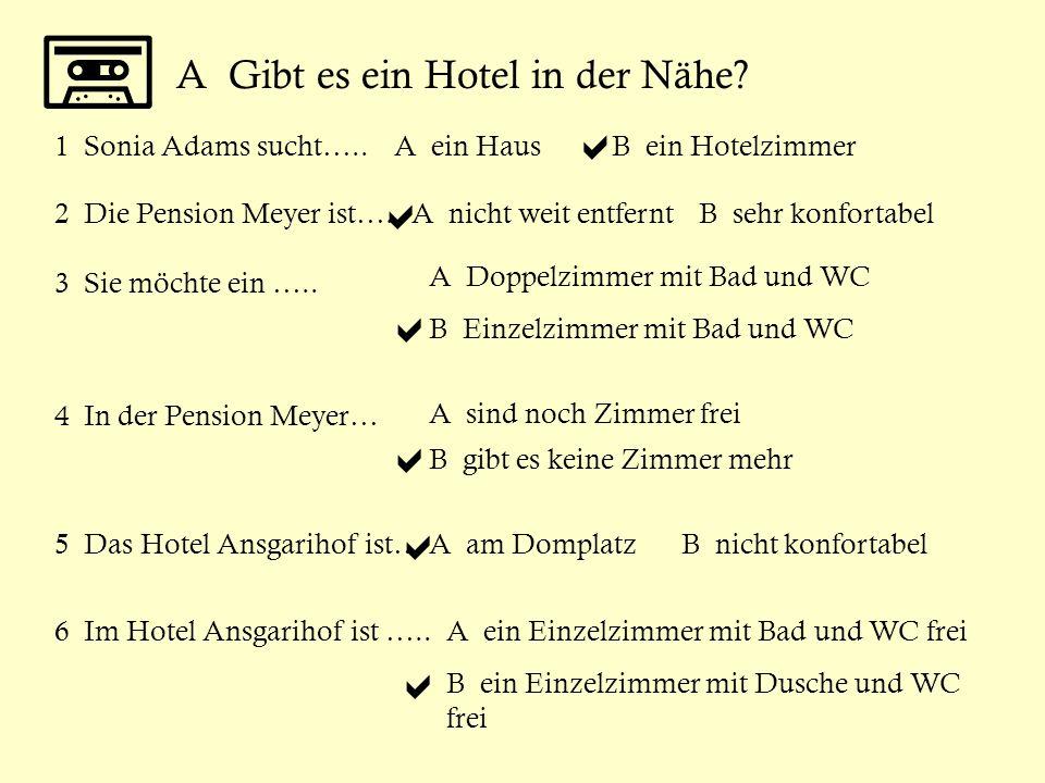 a a a a a a A Gibt es ein Hotel in der Nähe 1 Sonia Adams sucht…..