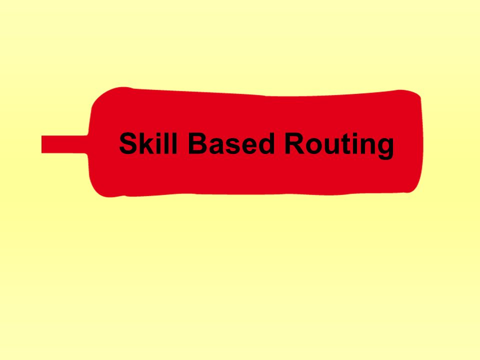 Skill Based Routing