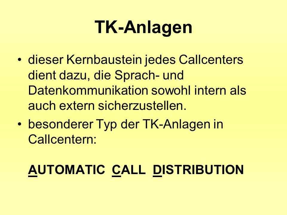 TK-Anlagendieser Kernbaustein jedes Callcenters dient dazu, die Sprach- und Datenkommunikation sowohl intern als auch extern sicherzustellen.