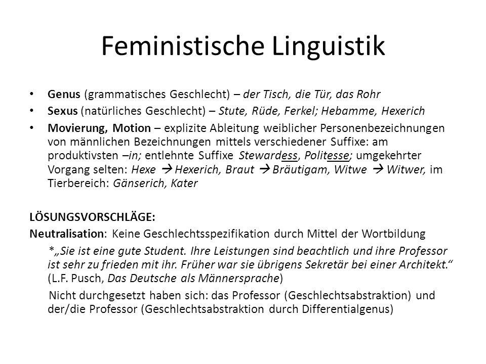Feministische Linguistik