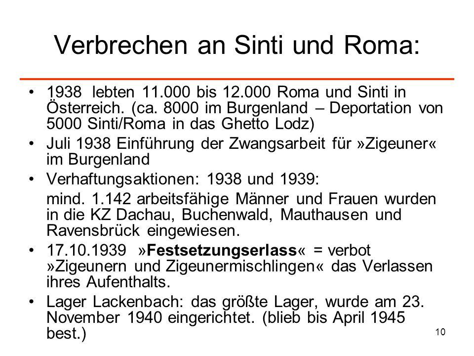 Verbrechen an Sinti und Roma:
