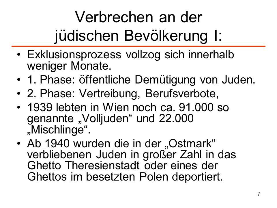 Verbrechen an der jüdischen Bevölkerung I: