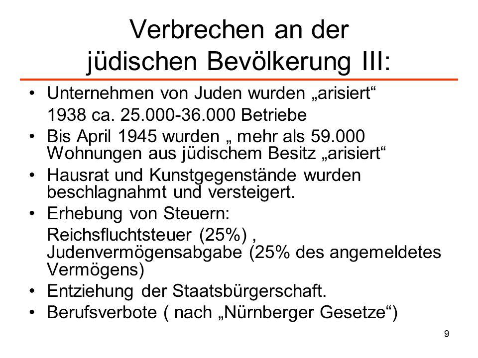 Verbrechen an der jüdischen Bevölkerung III:
