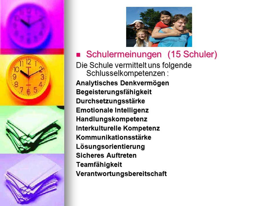 Schulermeinungen (15 Schuler)