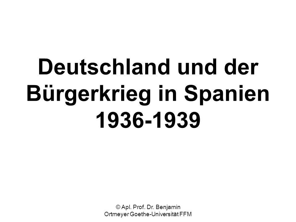Deutschland und der Bürgerkrieg in Spanien 1936-1939