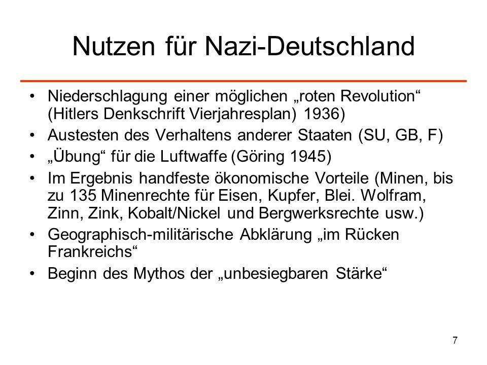 Nutzen für Nazi-Deutschland