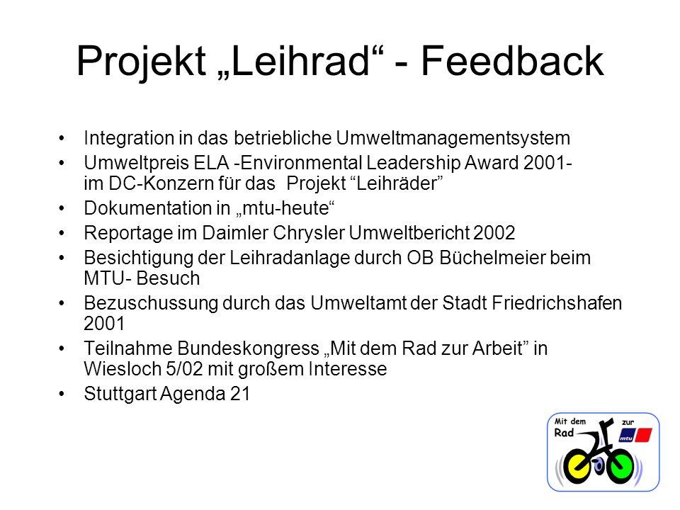 "Projekt ""Leihrad - Feedback"