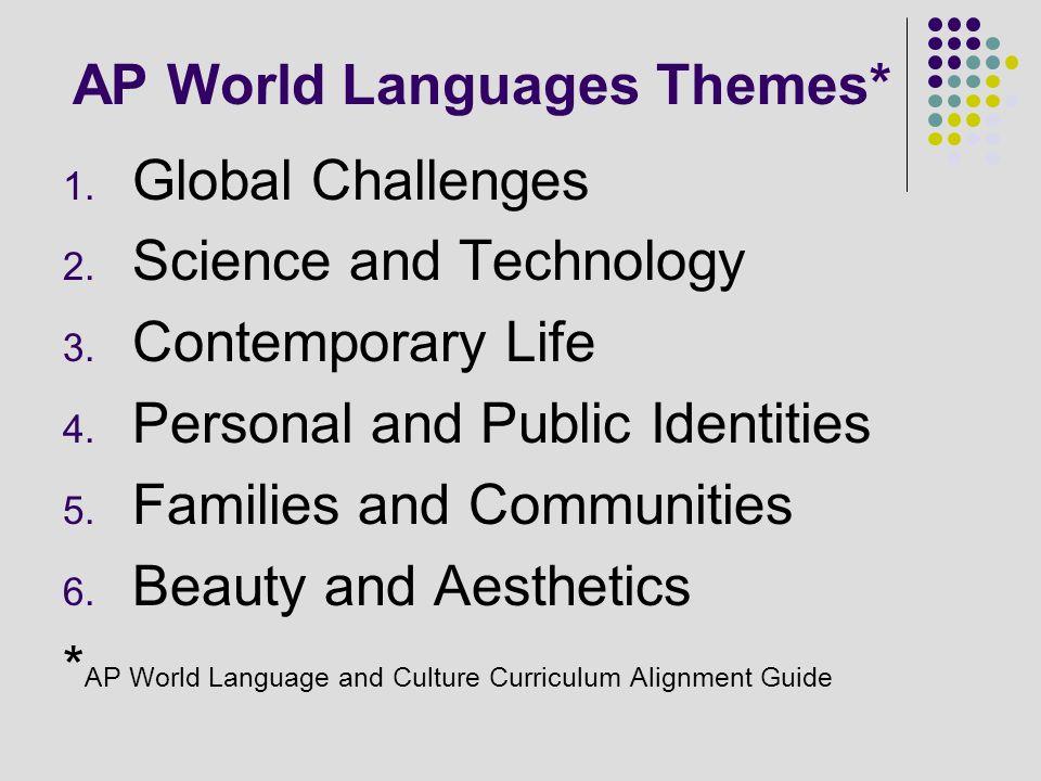 AP World Languages Themes*
