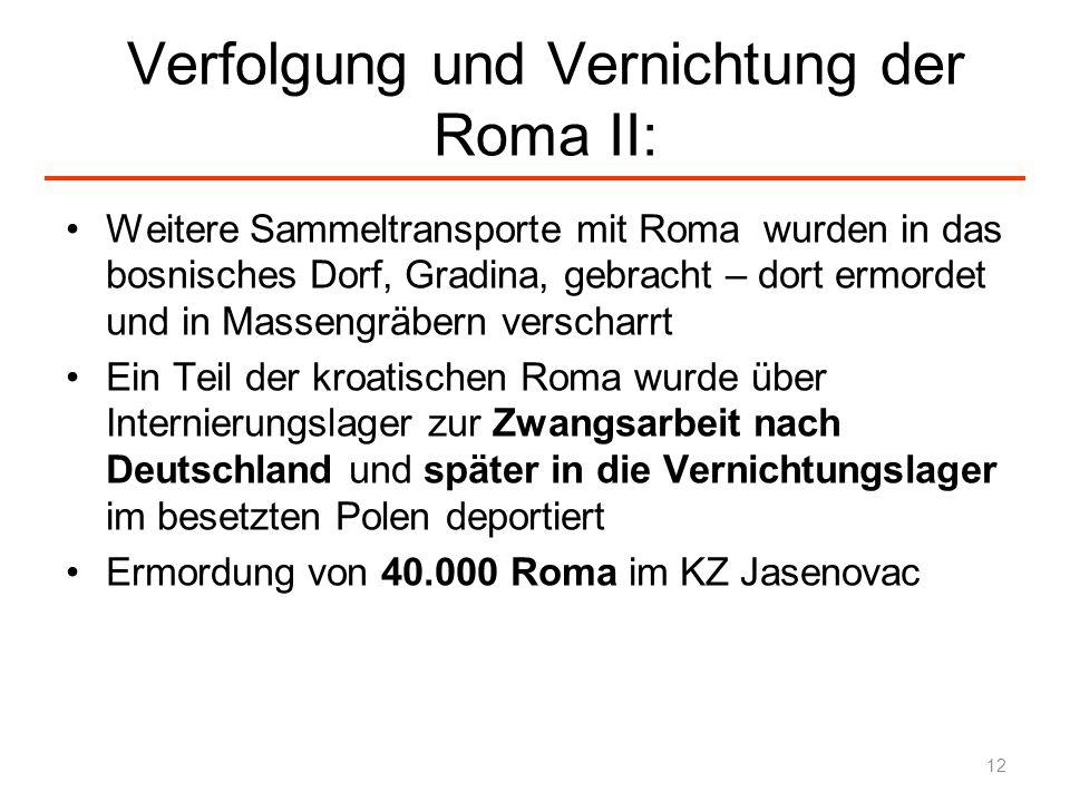 Verfolgung und Vernichtung der Roma II: