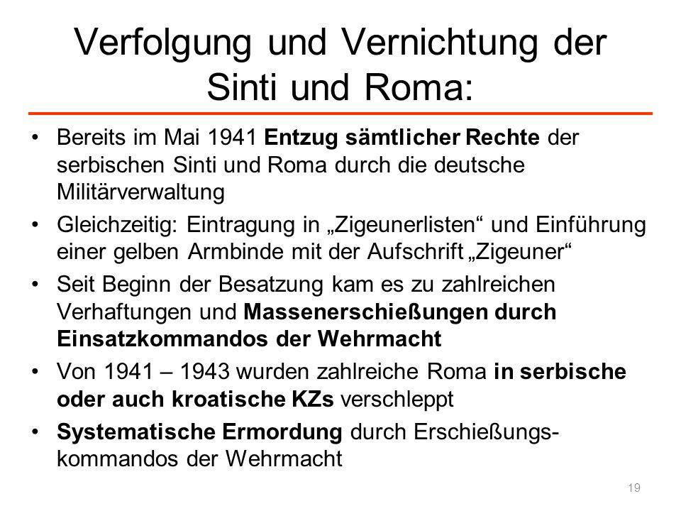 Verfolgung und Vernichtung der Sinti und Roma: