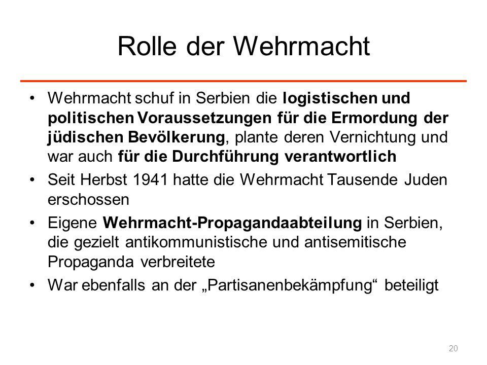 Rolle der Wehrmacht