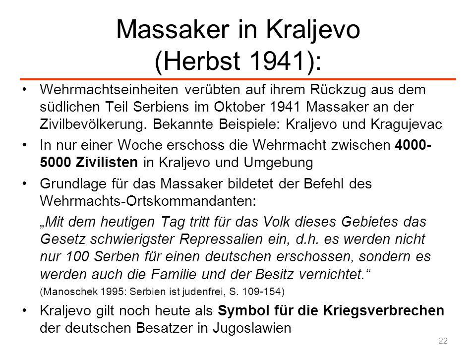 Massaker in Kraljevo (Herbst 1941):