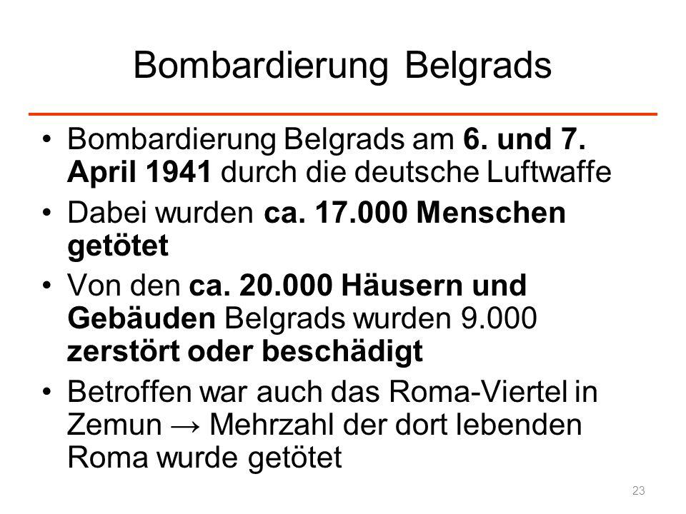 Bombardierung Belgrads