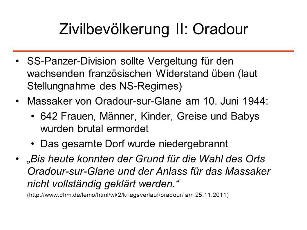 Zivilbevölkerung II: Oradour